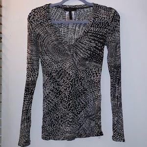 Black and White BCBG long sleeve top